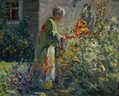 In The Garden c1914 By Matilda Browne