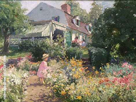 In Voorhee's Garden 1914 By Matilda Browne