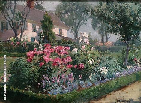 Miss Katherine Ludington's Garden 1914 By Matilda Browne