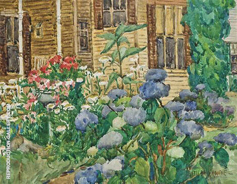 The Flower Garden Painting By Matilda Browne - Reproduction Gallery