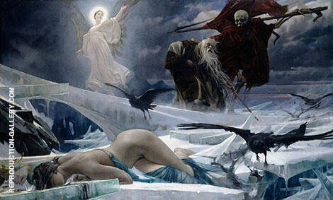 Ahasuerus at The End of The World By Adolf Hiremy-Hirschl