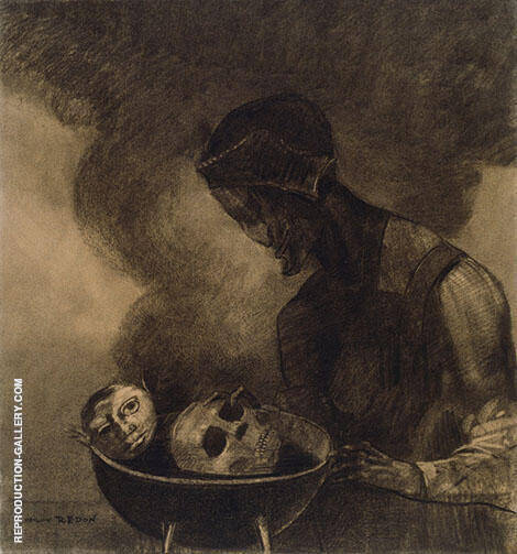 Cauldron of The Sorceress 1879 Painting By Odilon Redon