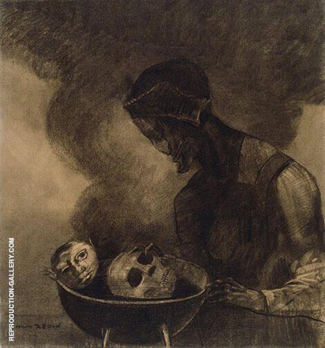 Cauldron of The Sorceress 1879 By Odilon Redon