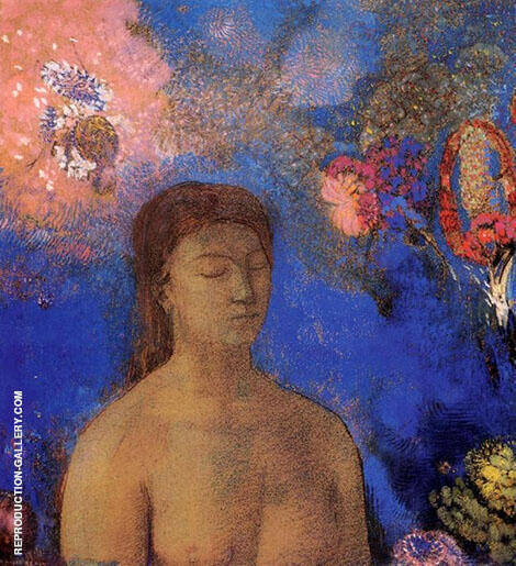 Closed Eyes c1895 By Odilon Redon