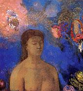 Closed Eyes c1895 By Odilon Redon