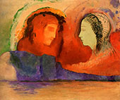 Dante and Beatrice By Odilon Redon