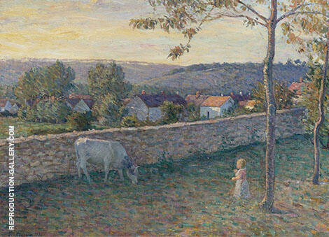 A Child at The Lawn at Pierrefonds 1896 By Henri Lebasque