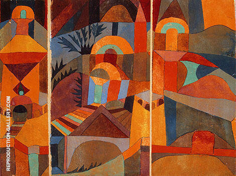 Temple Gardens 1920 Painting By Paul Klee - Reproduction Gallery