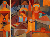 Temple Gardens 1920 By Paul Klee