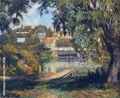 By The River By Henri Lebasque