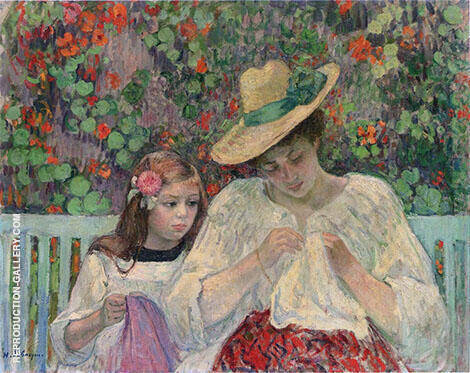 The Sewing Lesson By Henri Lebasque