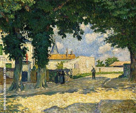 A Square in Monterain 1895 By Henri Lebasque