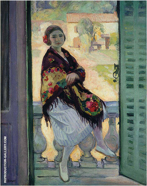 On The Balcony By Henri Lebasque