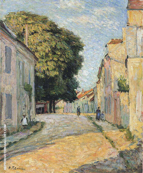 A Street in Montevrain By Henri Lebasque