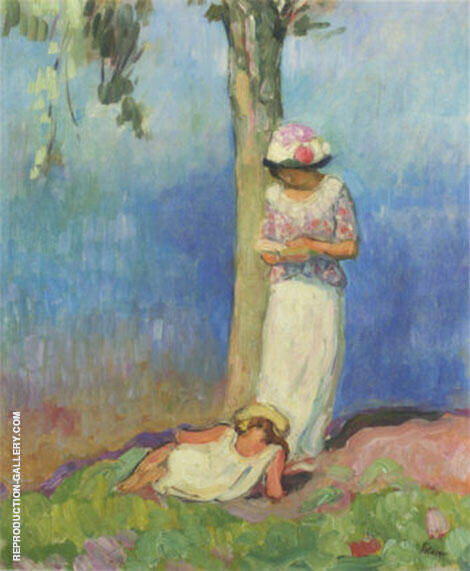 By The Tree By Henri Lebasque