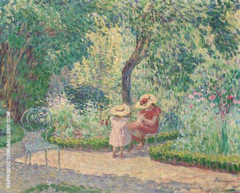 Dans le jardin By Henri Lebasque