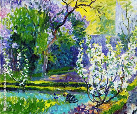 Garden in Spring By Henri Lebasque