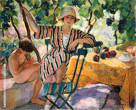 Garden in Summer Painting By Henri Lebasque - Reproduction Gallery