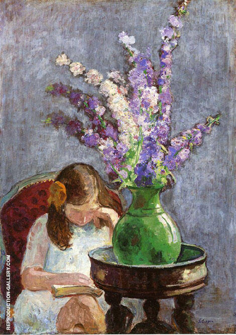 Girl with Flowers 1909 By Henri Lebasque
