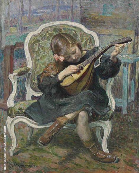 La Petite Mandoliniste By Henri Lebasque