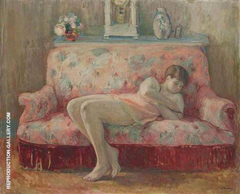 La Sieste Sur Le Canap� Rose By Henri Lebasque