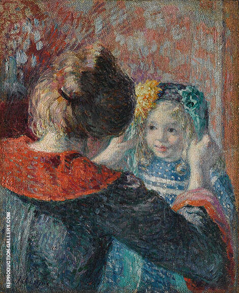 Madame Lebasque and Her Daughter Marthe By Henri Lebasque