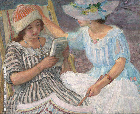 Marthe and Nono 1917 Painting By Henri Lebasque - Reproduction Gallery