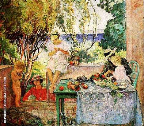 Meal on The Terrace By Henri Lebasque