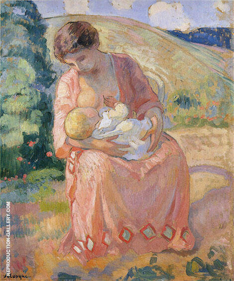 Mother and Child Painting By Henri Lebasque - Reproduction Gallery