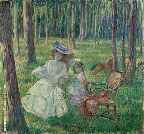 Mother and Daughter in The Park 1905 By Henri Lebasque