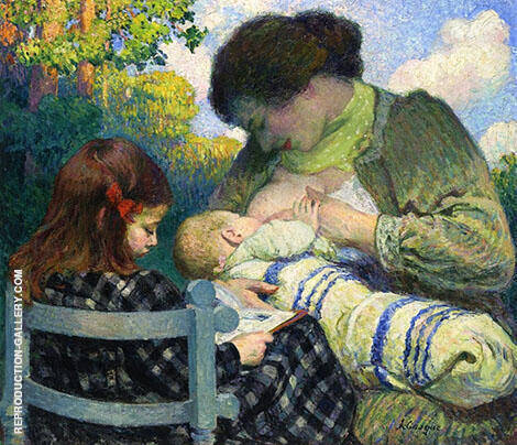 Motherhood Madame Lebasque and Her Children 1905 By Henri Lebasque