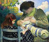 Motherhood Madame Lebasque and Her Children 1905 By Henri Lebasque