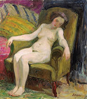 Nude in Armchair By Henri Lebasque