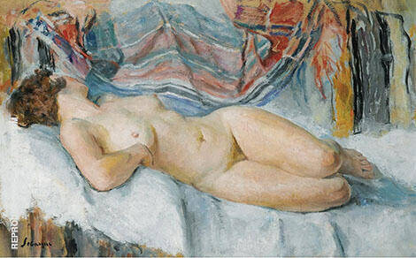 Nude on The Bed 1905 By Henri Lebasque