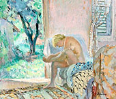 Nude Sitting on Sofa by The Window 1934 By Henri Lebasque