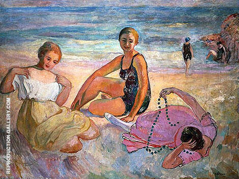 On The Beach By Henri Lebasque