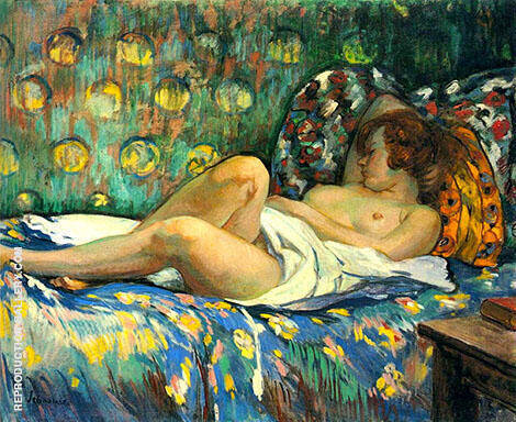 Reclining Nude 1900 Painting By Henri Lebasque - Reproduction Gallery
