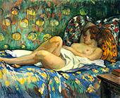 Reclining Nude 1900 By Henri Lebasque