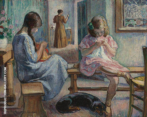 Sewing Girls By Henri Lebasque