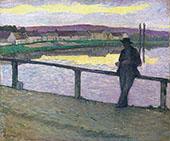 Sunset Over Pont Aven By Henri Lebasque
