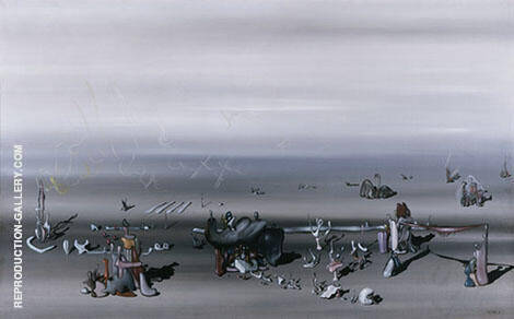 I Await You 1934 Painting By Yves Tanguy - Reproduction Gallery