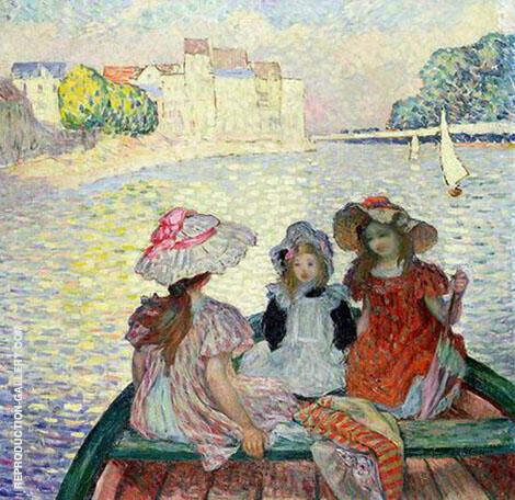 Three Girls in a Boat By Henri Lebasque