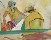 Two Young Women on The Beach 1920 By Henri Lebasque
