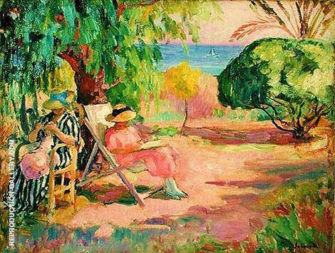 Woman Sewing By Henri Lebasque