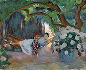 Young Woman at Hammock 1923 By Henri Lebasque