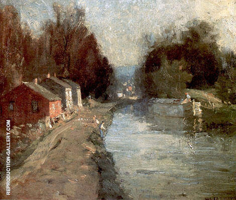Canal at New Hope Painting By William Langson Lathrop