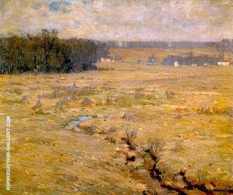 Bucks County Landscape Painting By William Langson Lathrop
