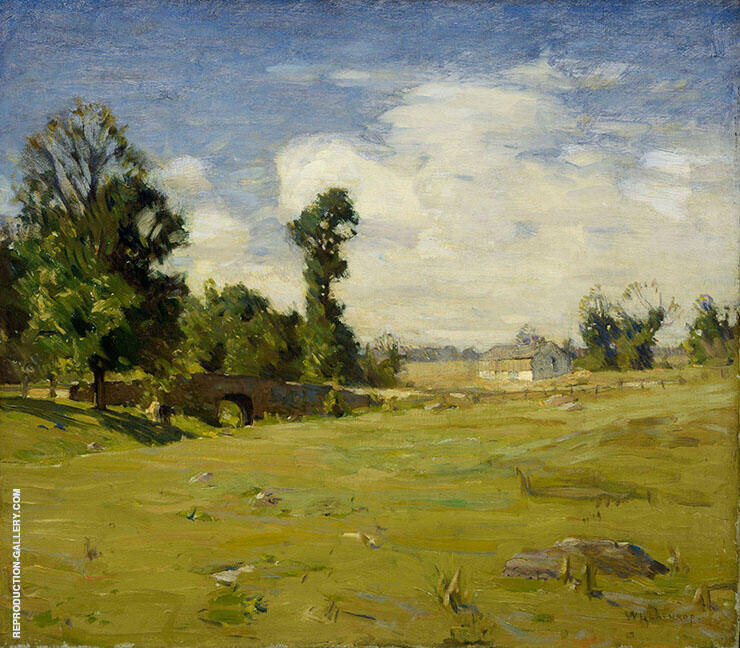 Elys Bridge Painting By William Langson Lathrop - Reproduction Gallery