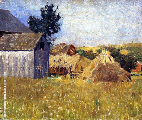 Gray Barn Painting By William Langson Lathrop - Reproduction Gallery