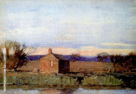 Old Schoolhouse Painting By William Langson Lathrop - Reproduction Gallery